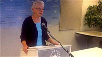 Susan Lambert, présidente du syndicat des enseignants de la Colombie-Britannique (BCTF)