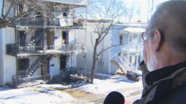 Un témoin de l'incendie de la rue Gillepsie à Sherbrooke