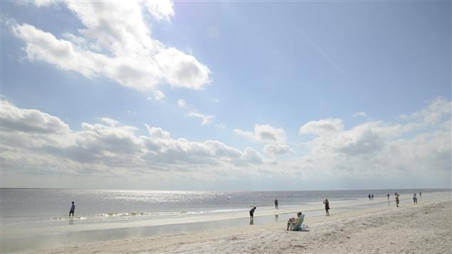 Plage de Sanibel Island en Floride