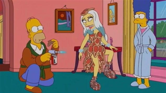 Le personnage de Lady Gaga dans un épisode des Simpsons