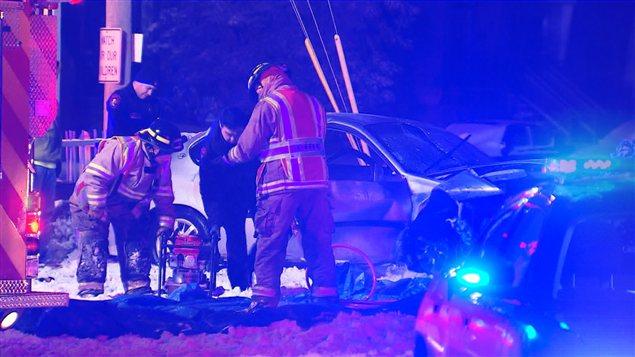 Accident de la route à Kahnawake