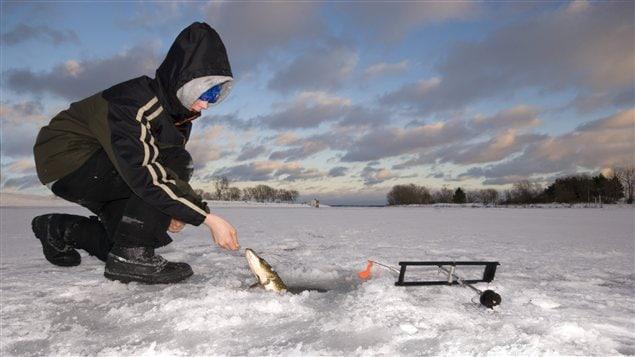 La pêche dans les lacs de la toundra de vidéo