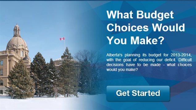 Page d'accueil du site web budgetchoice.ca