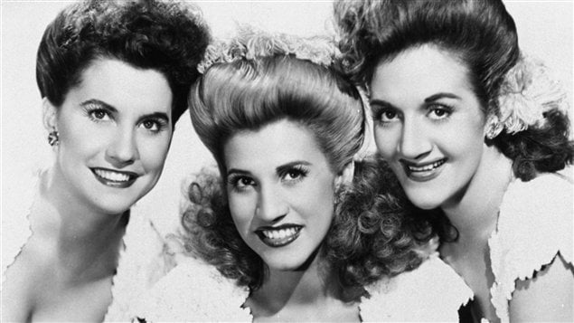 Maxine Andrews, Patty Andrews et LaVerne Andrews, des Andrew Sisters