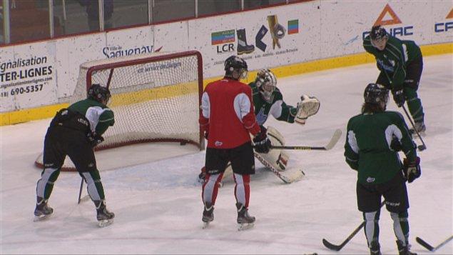 Les Mooseheads à l'entraînement au Centre Georges-Vézina
