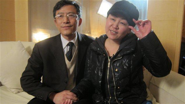Wang Yi et son mari, Hua Chunhui