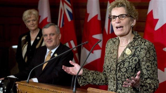 Kathleen Wynne a rencontré la presse jeudi, après être devenue première ministre désignée.