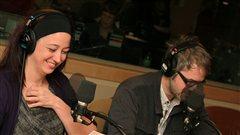 Marie-Jos�e Bastien (Scarlett) et Simon Boudreault (Rett) dans  <em>Autant en emporte le vent</em> |�Radio-Canada / Philippe Couture