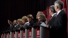 Les neuf candidats � la direction du PLC