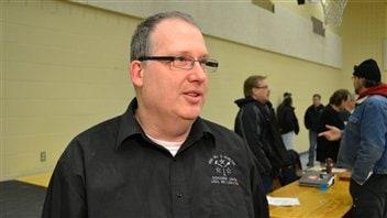 Le président de la section locale 589 des TCA, Richard Paquin, qui représente les employés de la minière Xstrata à Sudbury.