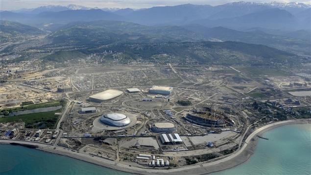 Vue aérienne de Sotchi