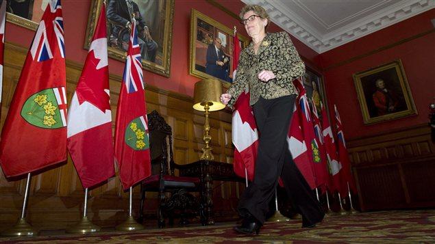 La première ministre désignée de l'Ontario, Kathleen Wynne