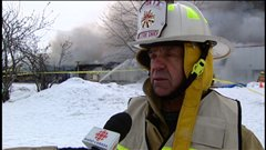 Selon le chef du Service des incendies, Aurèle Constantineau, la fromagerie est une perte totale.