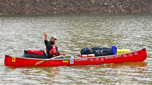 Le Fransaskois Dominique Liboiron a entrepris un voyage de 5000 kilomètres en canot, de la Saskatchewan jusqu'à La Nouvelle-Orléans