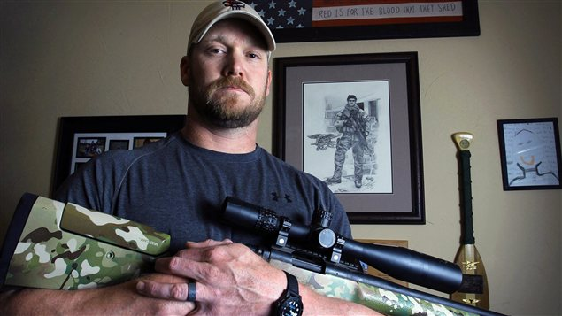 L'ancien tireur d'élite Chris Kyle photographié en avril 2012