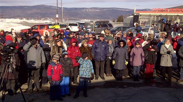 150 personnes ont bravé le froid à Gaspé