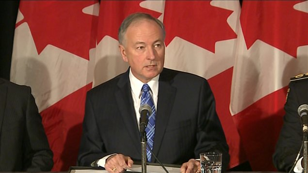 Le ministre de la Justice, Rob Nicholson,  Toronto, le 4 fvrier