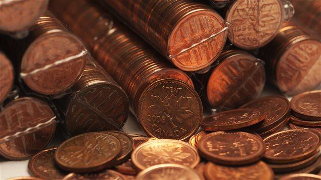 Rouleaux de pièce d'un cent