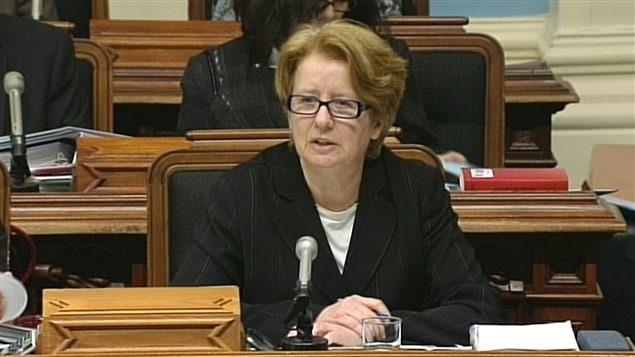 La ministre du Travail du Québec, Agnès Maltais