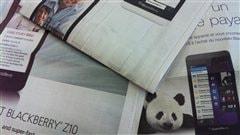 Publicités dans des journaux canadiens mardi