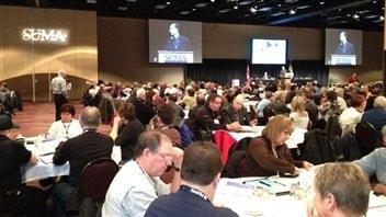 Les délégués de l'Association des municipalités urbaines de la Saskatchewan