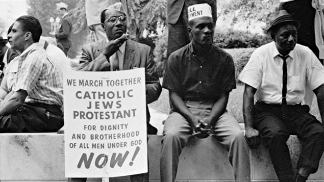 La marche pour les droits civiques de Selma � Montgomery, en Alabama, en 1965. / � Peter Pettus, Library of Congress, Wikip�dia