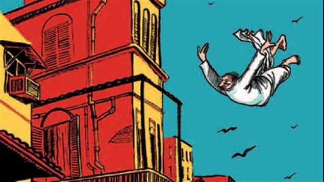 Image tirée de la couverture du roman graphique  <em>Calcutta</em>, de Sarnath Barnajee