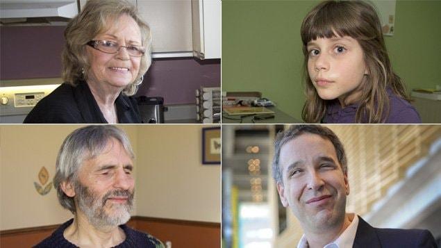 Pendant l'émission À perte de vue, nous entendons les témoignages de Réjeanne, Éliane, François et Luc.