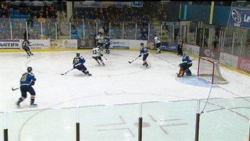 Un match des Aigles Bleus de l'Université de Moncton