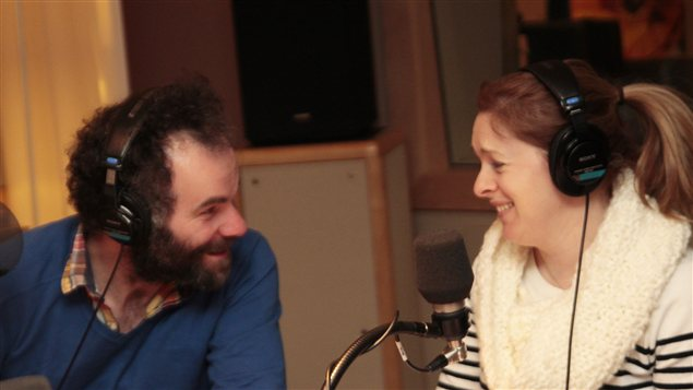 Fr�d�ric Blanchette et Catherine Trudeau au cabaret |�Radio-Canada / Philippe Couture