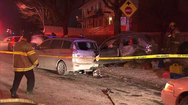 Le véhicule de la victime a terminé sa course sur un lampadaire