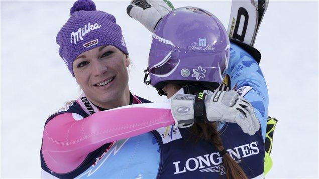 Maria Höfl-Riesch et Tina Maze