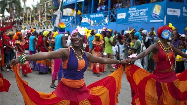 Une scène croquée lors du carnaval de Port-au-Prince, en Haïti, en 2012