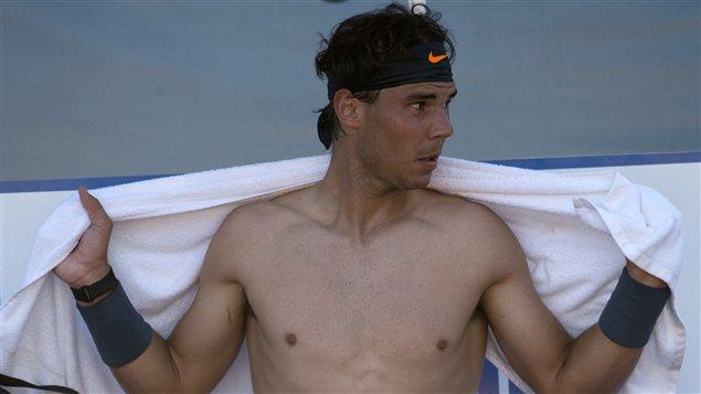 Rafael Nadal lors de son retour au jeu au Chili.