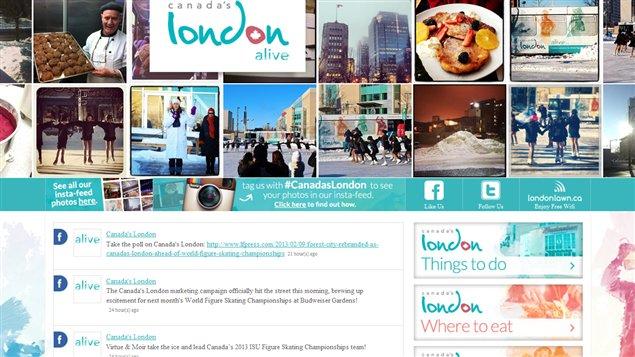 Un nouveau site web pour London