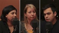 Les �ducateurs sp�cialis�s Julie Lefebvre, Cathy Raymond et S�bastien Dupuis.