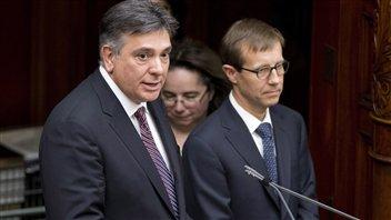 Le ministre des Finances, Charles Sousa, lors de son assermentation.