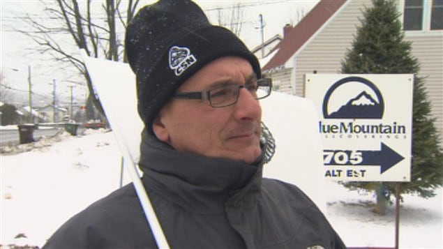 Grève à Blue Mountain de Sherbrooke