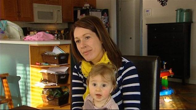 Meyranie Giroux a choisi d'allaiter son bébé.