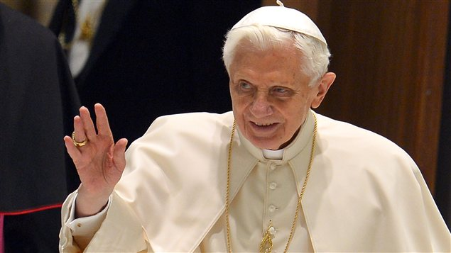 Le pape Benoît XVl au Vatican le 6 février 2013