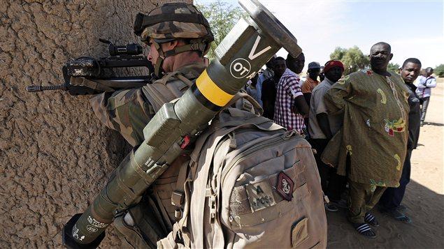 Soldat français à Gao, dans le nord-est de la France