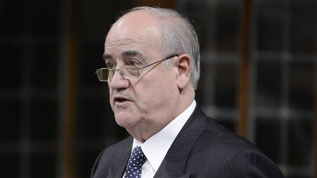 Le ministre canadien de la Coopération internationale, Julian Fantino, en Chambre, le 11 février.