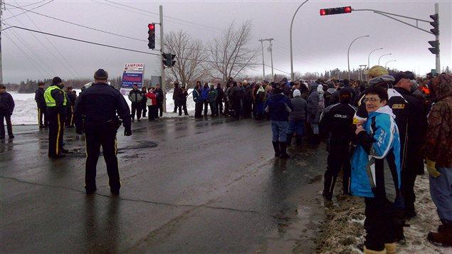 Manifestation à Tracadie-Sheila