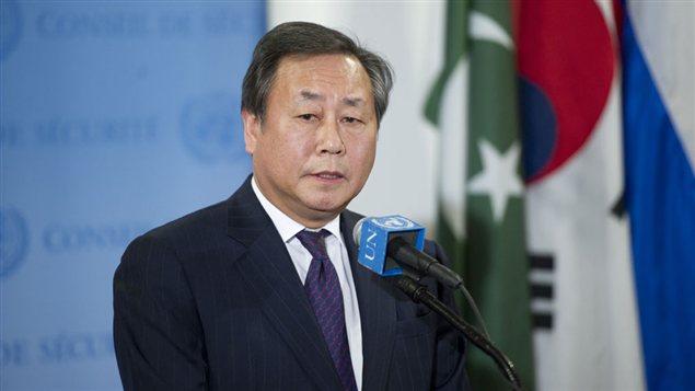 Le ministre des Affaires étrangères de la Corée du Sud, Kim Sung-hwan