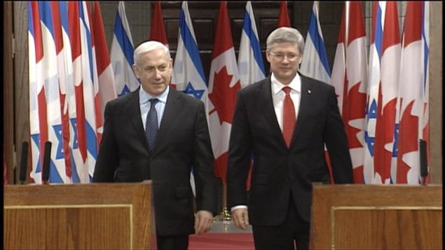 Conférence de presse Harper & Netanyahou