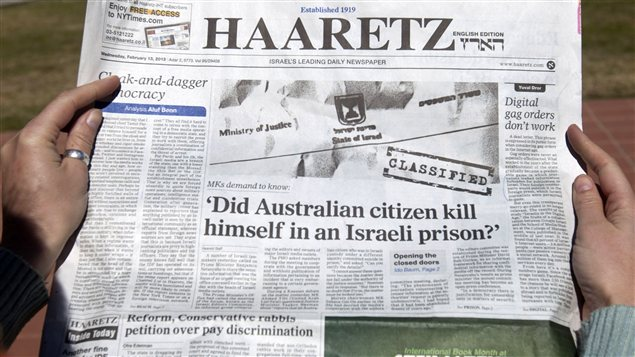 Le journal Haaretz s&#39;interroge : Le citoyen australien s&#39;est-il suicid en prison ?