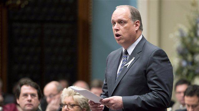 Le ministre de la Sécurité publique, Stephane Bergeron