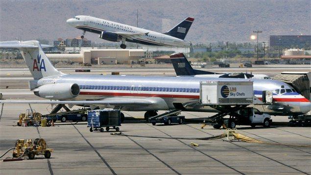 Des avions d'American Airlines et US Airways