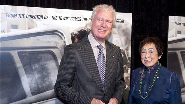L'ancien ambassadeur canadien en Iran, Ken Taylor, lors de la première du film «Argo»