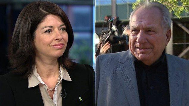 L'ex-ministre libérale Line Beauchamp et l'ex-grand argentier d'Union Montréal, Bernard Trépanier